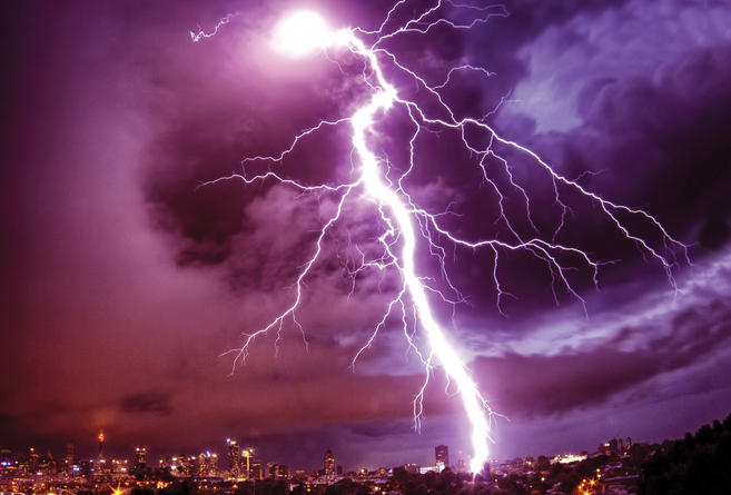 cosmic rays cause lightening