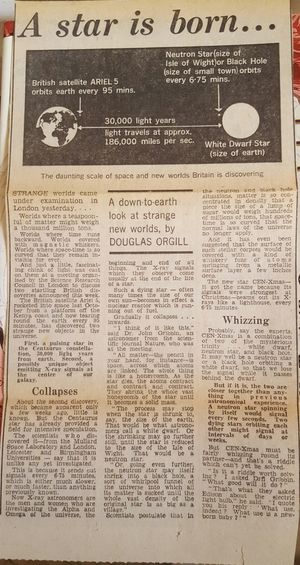 a star is born newspaper old article